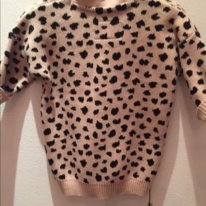 huxbaby Shirts & Tops - Huxbaby leopard cardigan sweater